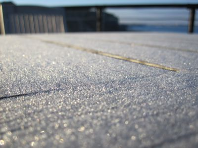 Frost on the table
